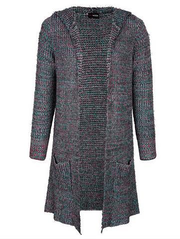 MIAMODA Ilgas megztinis su buntem megztas