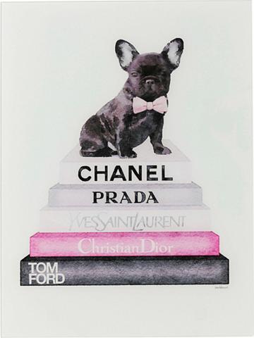 KARE Stiklinis paveikslas »Fashion Dog«