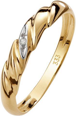 LADY Žiedas su deimantas ir aparten Rillen