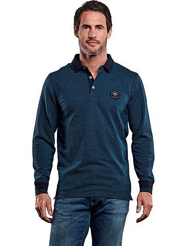 ENGBERS Dviejų spalvų Polo marškinėliai Ilgomi...