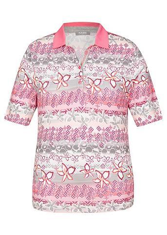 RABE Polo marškinėliai su Uni-Kragen ir gėl...
