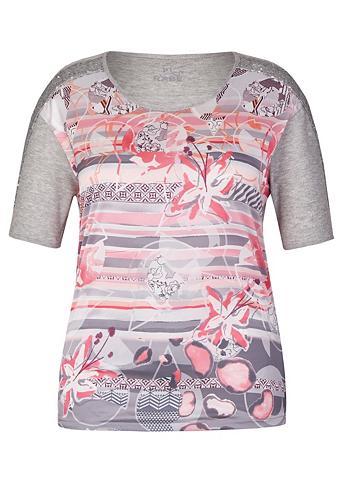 RABE Marškinėliai su Front-Print ir Paillet...