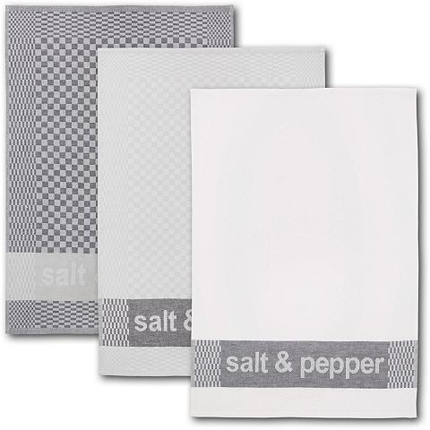 Dyckhoff Geschirrtuch »salt & pepper« (Set 6-tl...