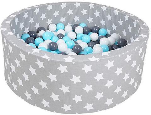 Knorrtoys ® Bällebad »minkštas Grey white stars«...