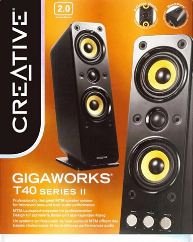 CREATIVE »Gigaworks T40 Series II« 2.0 PC-Lauts...