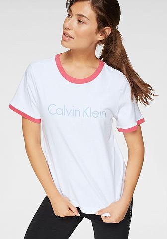 Calvin Klein Marškinėliai su Kontrastbündchen