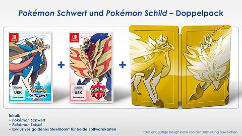 NINTENDO SWITCH Pokémon Schwert ir Schild dvigubas Nin...