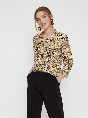 PIECES Leopardenprint viskozė Marškiniai