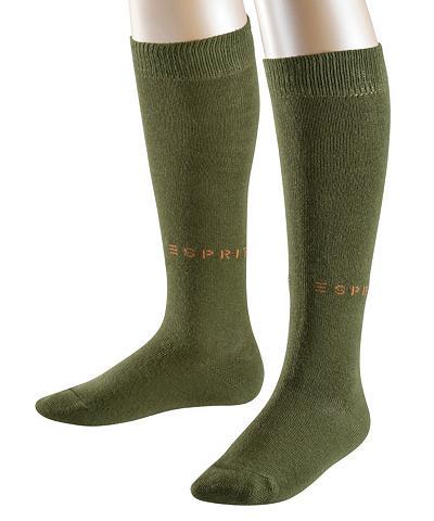 ESPRIT Kojinės iki kelių Foot Logo dvigubas (...