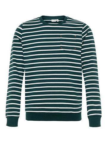 NAME IT Dryžuota Sportinio stiliaus megztinis