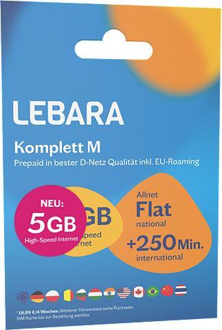 Lebara Prepaid Karte »Komplett M Tarif-Paket«...