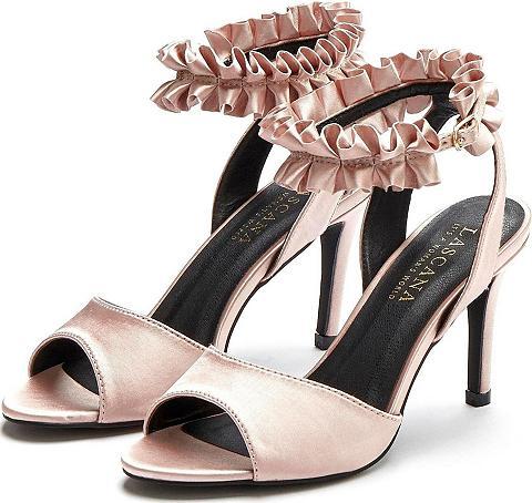 LASCANA High-Heel-Sandalette su Rüschenband