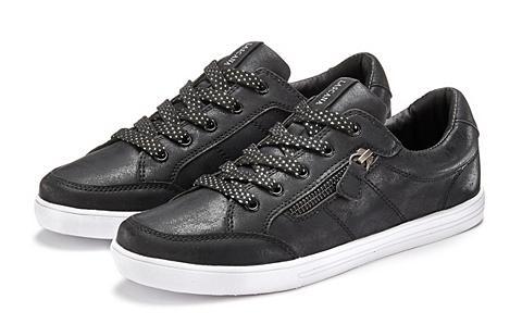 LASCANA Sneaker in Metallic-Optik ir iš šono Z...