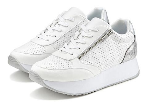 LASCANA Sneaker Plateau su Metallic-Einsätzen ...
