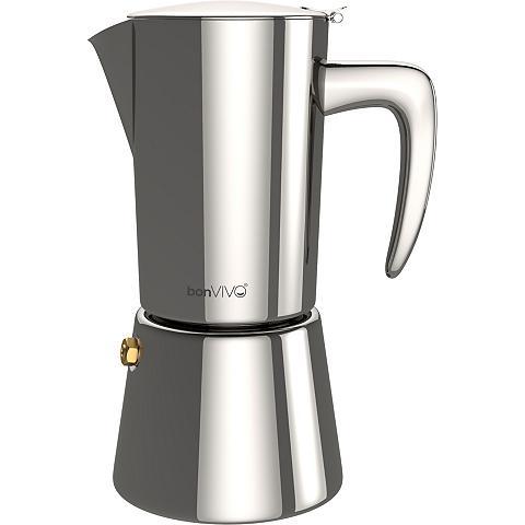 bonVIVO Espressokocher Intenca iš Edelstahl dė...