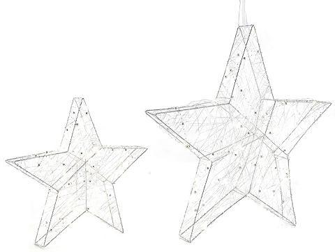 LED Stern 2 vnt. rinkinys su Perlen