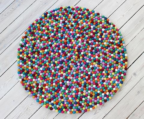 WOOLDOT Vilnonis kilimas »Mixed Color« ovali a...