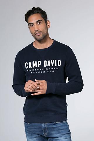CAMP DAVID Megztinis su Logo-Stickerei