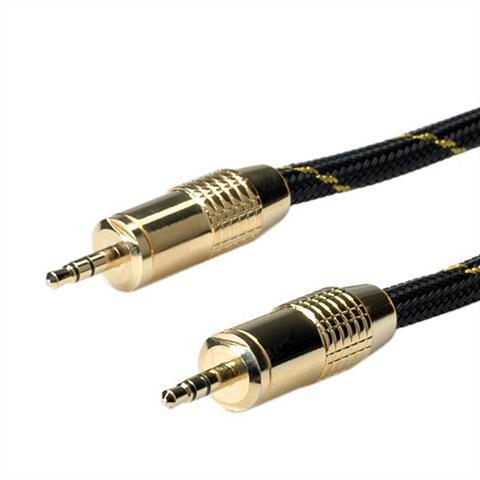 ROLINE »GOLD 35mm Audio-Verbindungskabel Stec...