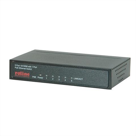 ROLINE »PoE Fast Ethernet Switch 5 Port (1x P...