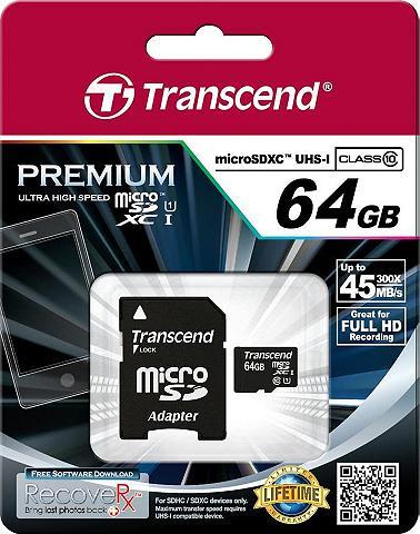 Transcend »microSDXC/SDHC Class 10 UHS-I + SD Ad...