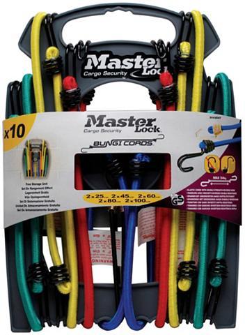 MASTER LOCK Gepäckträgergurt-Set »Twin Wire« 10er ...