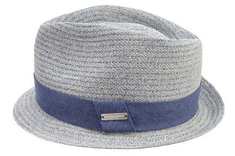 Seeberger šiaudinė skrybėlė »Trilby su Stoffumla...