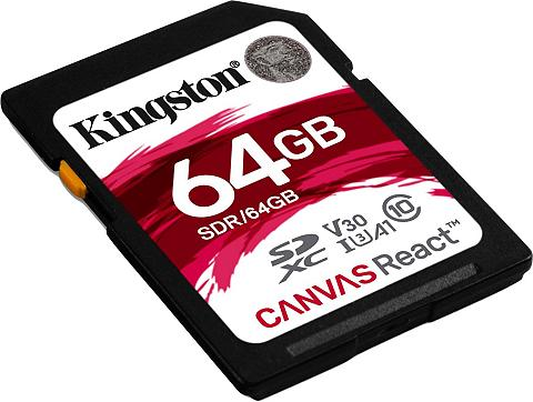 Kingston »Canvas React SDXC« Speicherkarte (64 ...