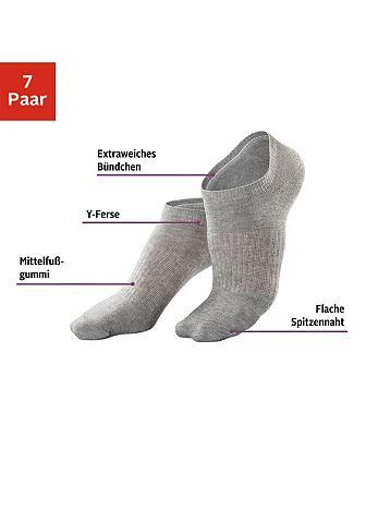 LASCANA ACTIVE Sneakersocken (7-Paar) su Mittelfußgum...