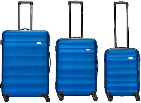 Packenger Trolleyset »Timber Blau« 4 ratukai (3 ...