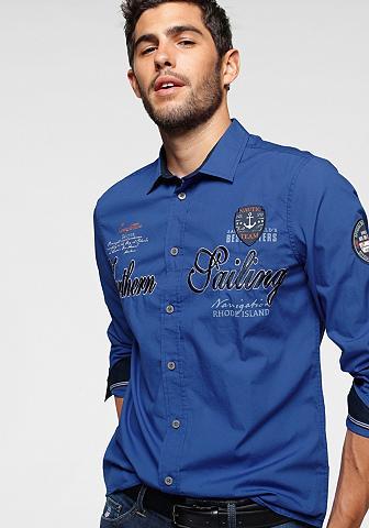 Rhode Island Marškiniai ilgomis rankovėmis su viele...