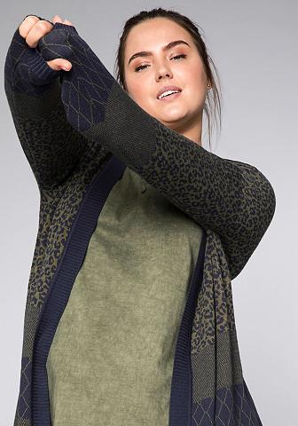 Sheego Ilgas megztinis in offener Form