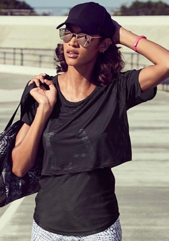 LASCANA ACTIVE Du viename marškinėliai »Digital Mauve...