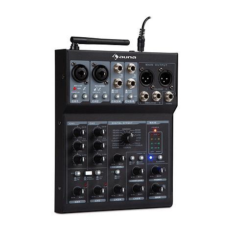 Auna 6-Kanal Mixer Mischpult BT USB laikmen...