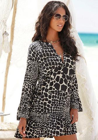 LASCANA Ilgi marškiniai su Animalprint