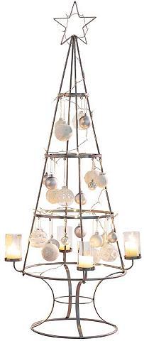 Žvakidė »Weihnachtsbaum« Metall/Glas