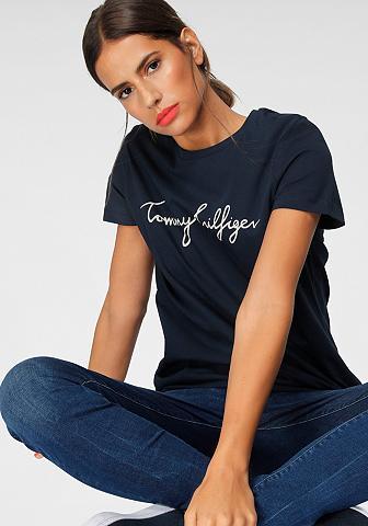 TOMMY HILFIGER Marškinėliai »HERITAGE CREW NECK GRAPH...