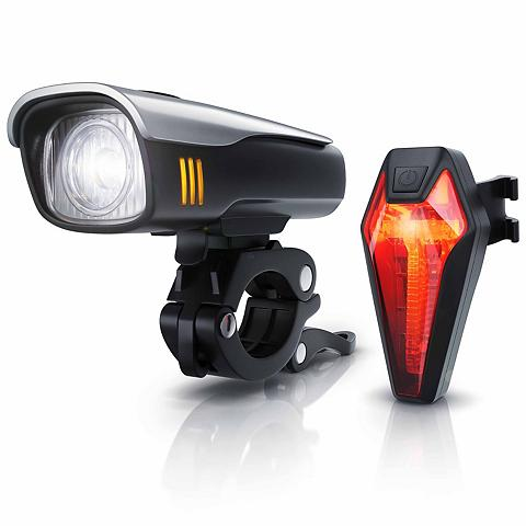 Aplic LED Fahrradlampen-Set su Front & Rückl...