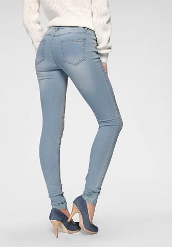 Arizona Skinny-fit-Jeans »im Biker- Look« Low ...