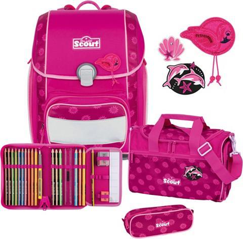 Scout Schulranzen »Genius Pink Daisy« (Set)