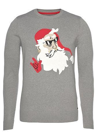 TOM TAILOR Megztinis su Weihnachtsmann-Print