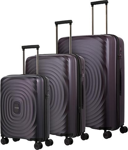 TITAN ® Trolleyset »Looping Purple« 4 ratuka...