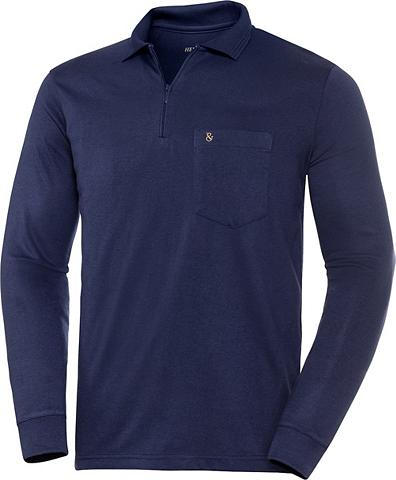 HENSON&HENSON HENSON&HENSON Langarm-Poloshirt Superw...