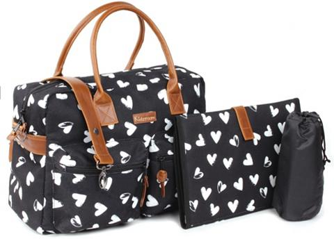 Kidzroom Wickeltasche »Black & White heart«