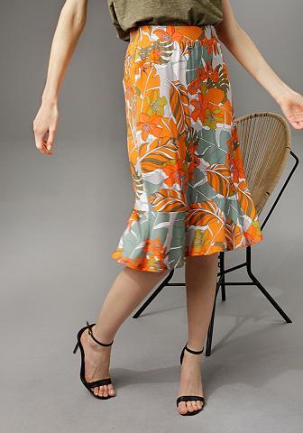 Aniston CASUAL Sommerrock su trendfarbenen Blumendruc...