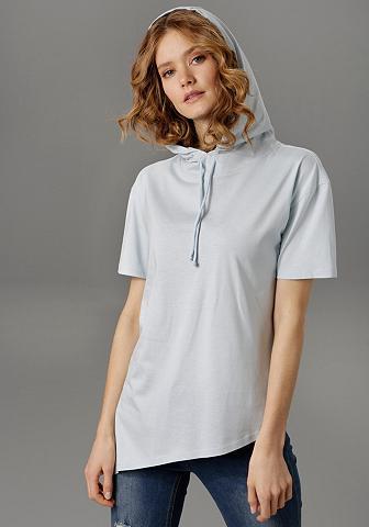 Aniston CASUAL Marškinėliai su Kapuze ir Bindeband