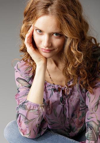 Aniston CASUAL Carmenbluse su elastingas Jerseyfutter...