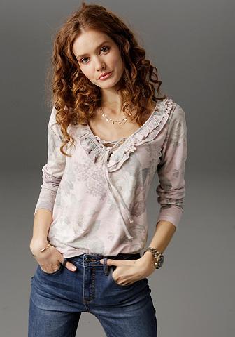 Aniston CASUAL Marškinėliai ilgomis rankovėmis su Rüs...