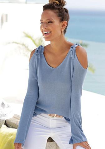 LASCANA Megztinis su Cold-Shoulder-Detail