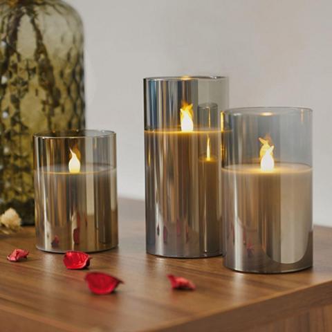 Pauleen LED-Kerze »Classy Smokey Candle« (Set ...
